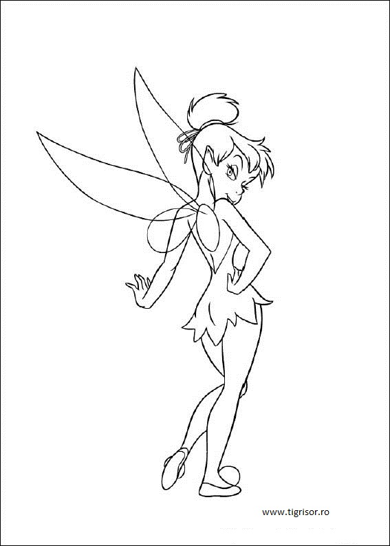 how to draw tinkerbell face