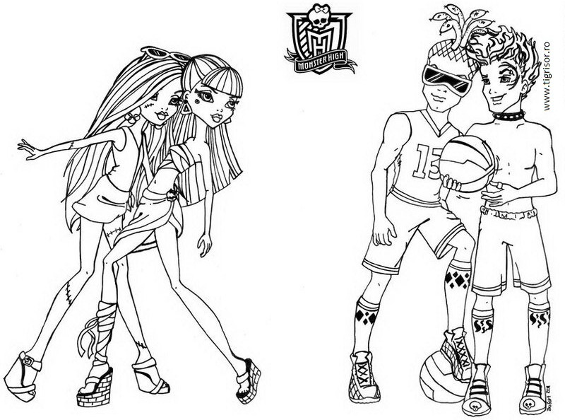 coloring pages monster high skull - photo#34