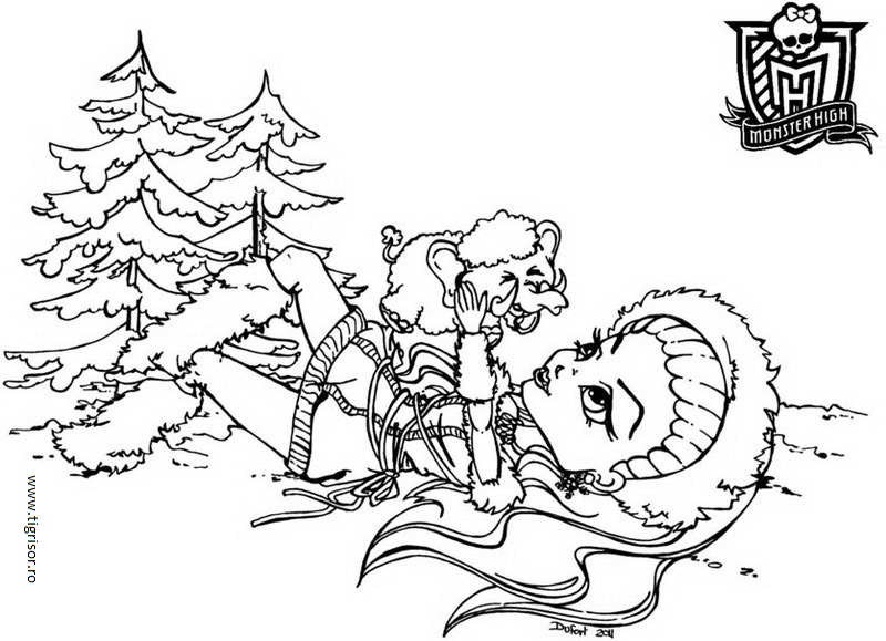 Monster High Cu Colouring Pages  Page 2