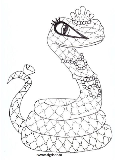 Plansa de colorat cu hissette cobra lui cleo de nile din for Monster high coloring pages 13 wishes