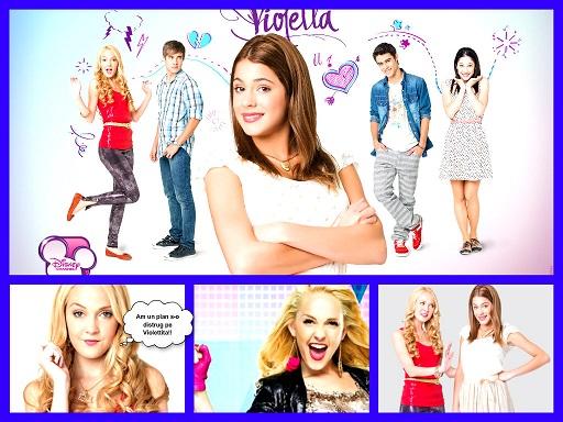 Planse de colorat cu Violetta si Video Musical Si Es Por Amor