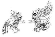 lego chima Cragger vs Eris mic